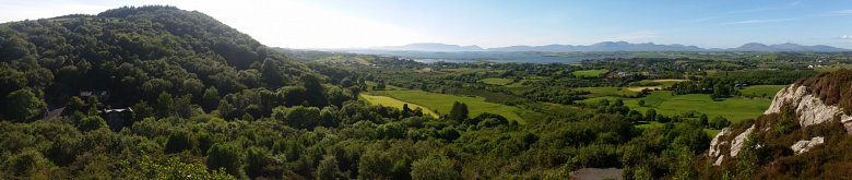Panorama of Cloona from the hill above